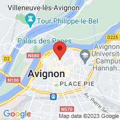Carte / Plan Palais des papes d'Avignon