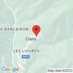 Carte / Plan Collégiale Sainte-Marie de Clans