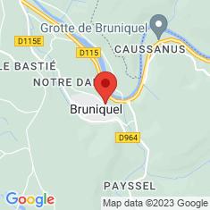 Carte / Plan Châteaux de Bruniquel