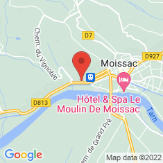 Carte / Plan Église Saint-Martin de Moissac