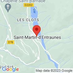 Carte / Plan Église Saint-Martin de Saint-Martin-d'Entraunes