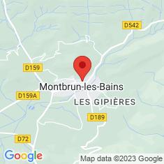 Carte / Plan Montbrun-les-Bains