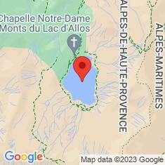 Carte / Plan Lac d'Allos