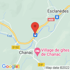 Carte / Plan Gare de Chanac
