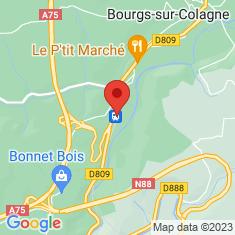 Carte / Plan Gare du Monastier