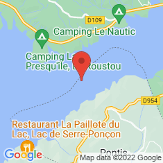 Carte / Plan Lac de Serre-Ponçon
