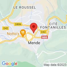 Carte / Plan Mende (Lozère)