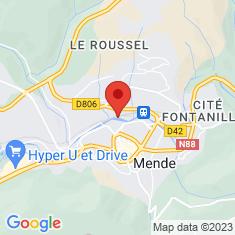 Carte / Plan Pont Notre-Dame de Mende