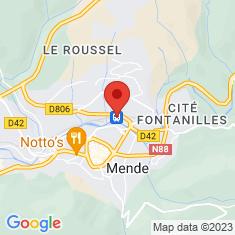 Carte / Plan Gare de Mende