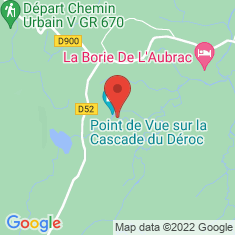 Carte / Plan Cascade du Déroc