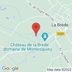 Carte / Plan Château de La Brède