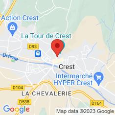 Carte / Plan Crest (Drôme)
