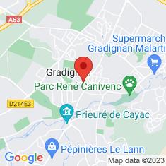 Carte / Plan Gradignan