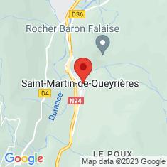 Carte / Plan Saint-Martin-de-Queyrières