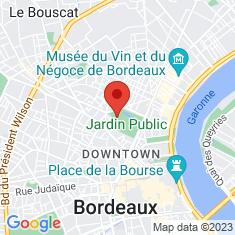 Carte / Plan Jardin botanique de Bordeaux
