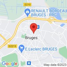 Carte / Plan Bruges (Gironde)
