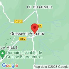 Carte / Plan Gresse-en-Vercors