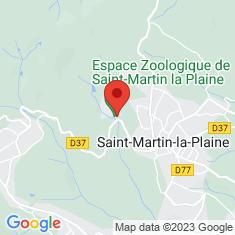 Carte / Plan Parc zoologique de Saint-Martin-la-Plaine