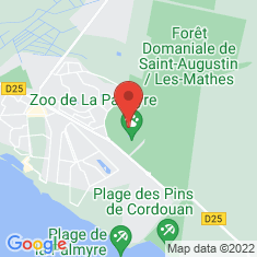 Carte / Plan Zoo de la Palmyre