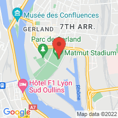 Carte / Plan Stade de Gerland