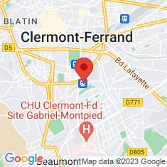 Carte / Plan Gare de Clermont-La Rotonde