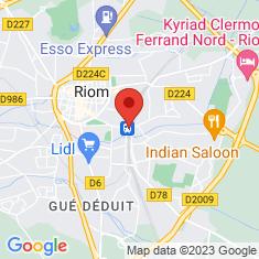 Carte / Plan Gare de Riom - Châtel-Guyon