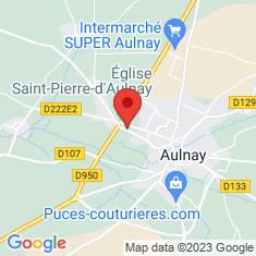 Carte / Plan Église Saint-Pierre d'Aulnay