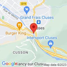 Carte / Plan Pont Vieux (Cluses)