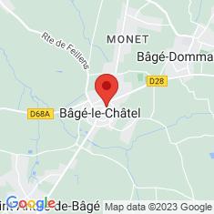 Carte / Plan Bâgé-le-Châtel