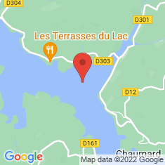 Carte / Plan Lac de Pannecière