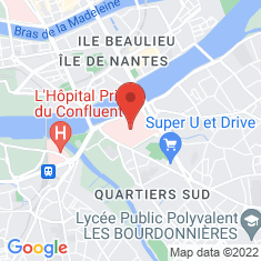 Carte / Plan Hôpital Saint-Jacques (Nantes)