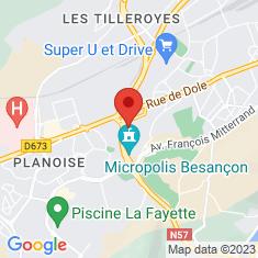 Carte / Plan Micropolis Besançon
