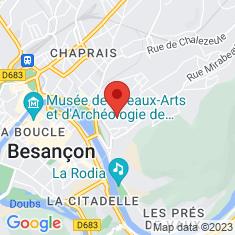 Carte / Plan Fort de Beauregard (Besançon)
