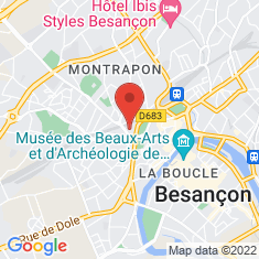 Carte / Plan Jardin botanique de Besançon