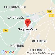 Carte / Plan Sury-en-Vaux