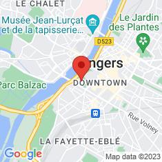 Carte / Plan Château d'Angers