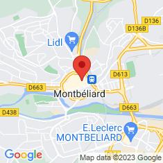 Carte / Plan Montbéliard