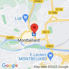Carte / Plan Gare de Montbéliard