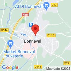 Carte / Plan Bonneval (Eure-et-Loir)