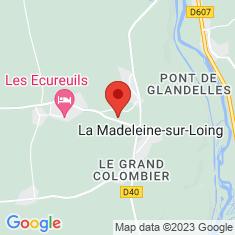 Carte / Plan Croix hosannière de La Madeleine-sur-Loing