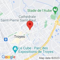Carte / Plan Cathédrale Saint-Pierre-et-Saint-Paul de Troyes