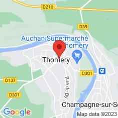 Carte / Plan Thomery