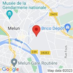 Carte / Plan Couvent des Récollets de Melun