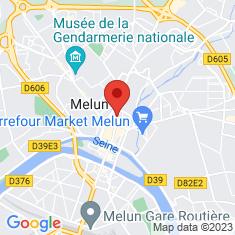 Carte / Plan Melun