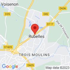 Carte / Plan Rubelles