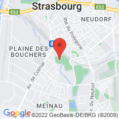 Carte / Plan Stade de la Meinau