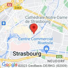 Carte / Plan Musée des beaux-arts de Strasbourg