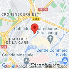 Carte / Plan Allée des Justes parmi les nations (Strasbourg)