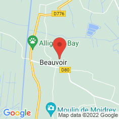 Carte / Plan Beauvoir (Manche)