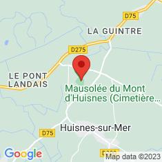 Carte / Plan Mausolée du Mont d'Huisnes